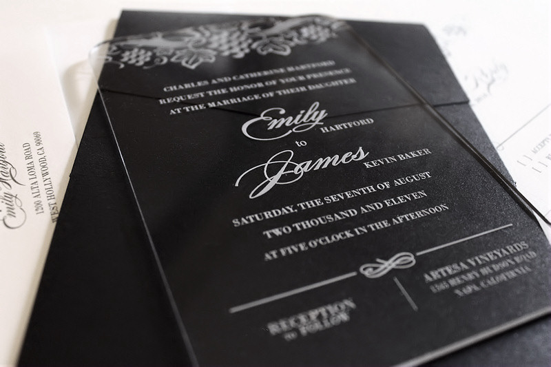 Clear Wedding Invitations: Crystal Clear: Acrylic Wedding Details To Make Your Day